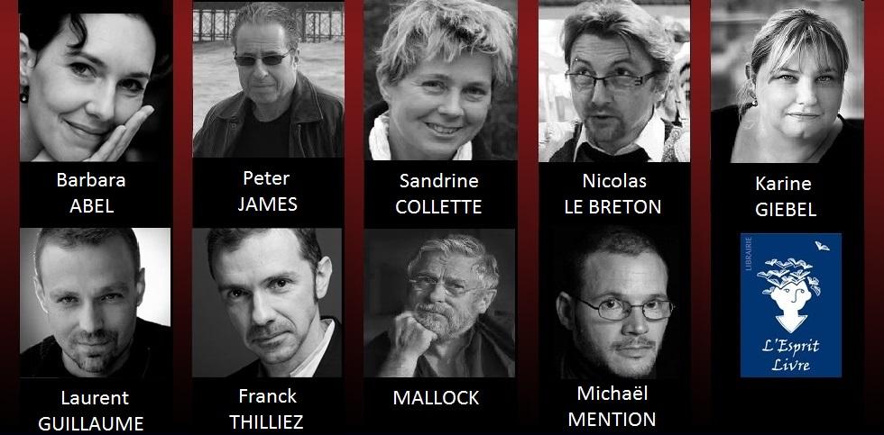 Quais du Polar 2014 : Auteurs en dédicace sur le stand de L'Esprit Livre