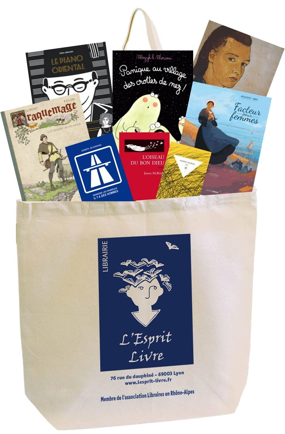 Le sac de la librairie L'Esprit Livre