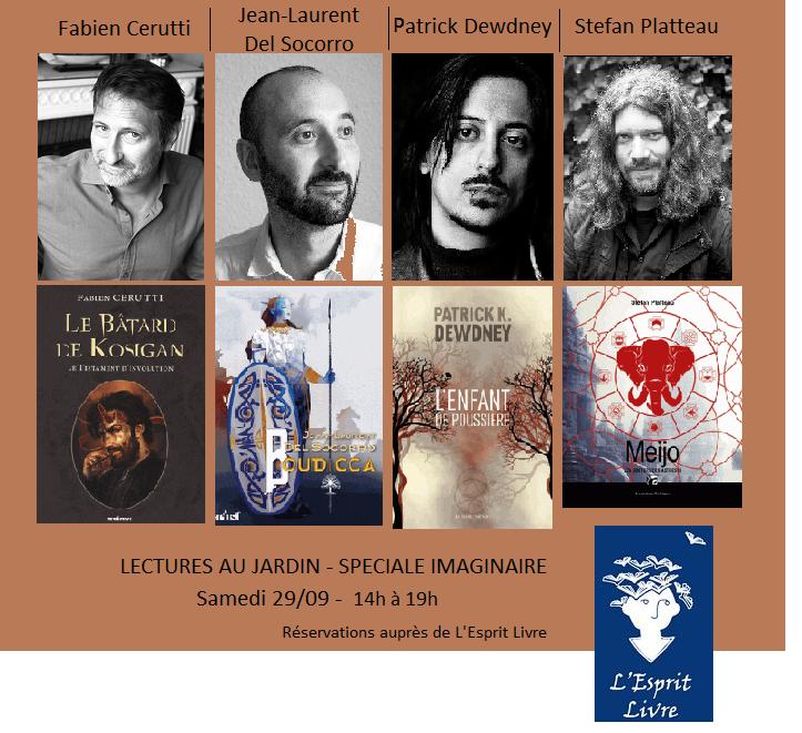 Lectures au Jardin - Spéciale Imaginaire avec F. Cerutti, J-L Del Socorro, P. Dewdney et S. Platteau @ Villa Monoyer | Lyon | Auvergne-Rhône-Alpes | France
