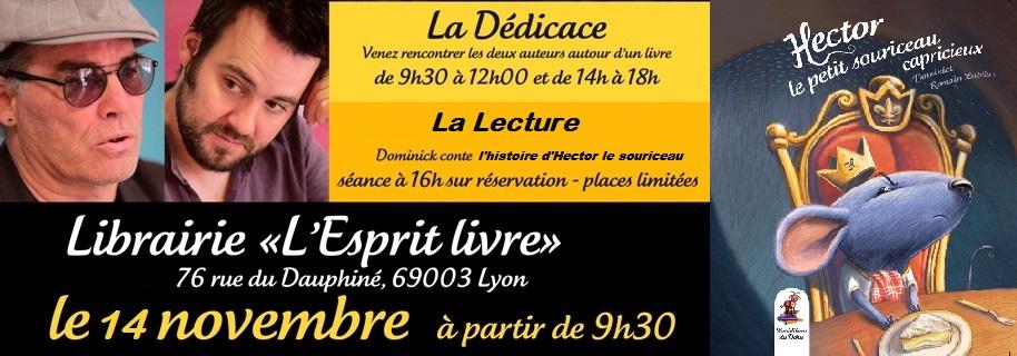 Hector le petit souriceau - Dominick & Romain Lubière- Rencontre Dédicace