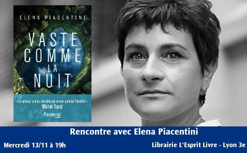 Vaste comme la nuit - Elena Piacentini