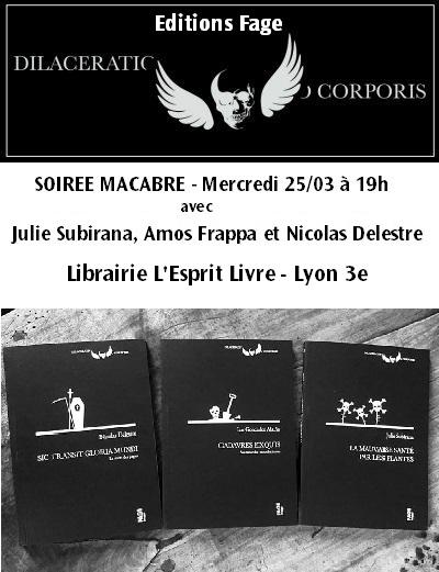 Soirée Macabre - Editions Fage